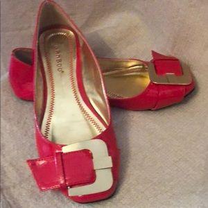 Bamboo Red Ballet Flats